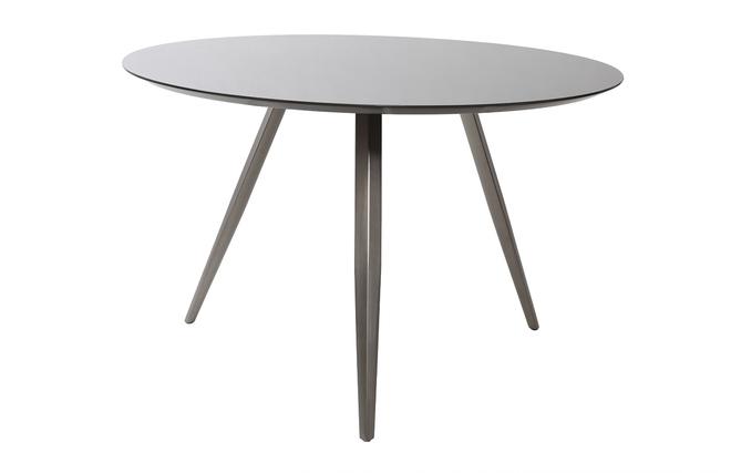Table manger design ronde gris mat marny miliboo for Table a manger ronde design