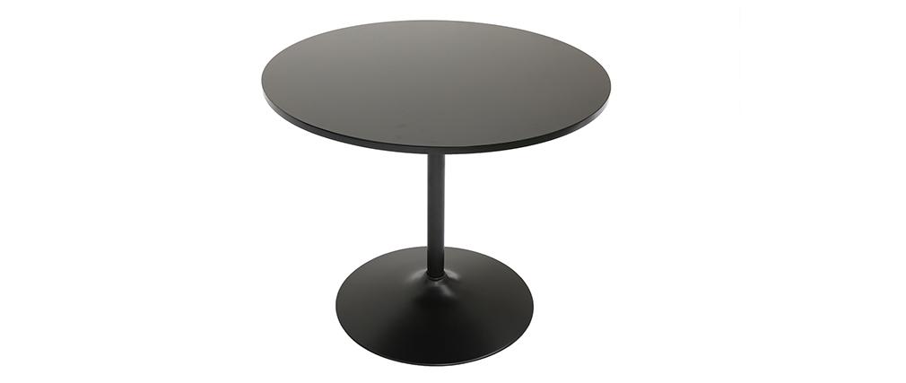 Table à manger design ronde noire 90 cm CALISTA - Miliboo & Stéphane Plaza