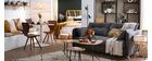 Table à manger design ronde noire D90 cm CALISTA - Miliboo & Stéphane Plaza