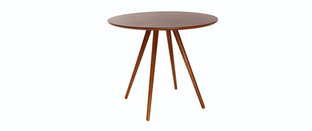 Table à manger design ronde noyer ARTIK