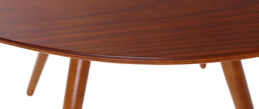 Table à manger design ronde noyer D90 ARTIK