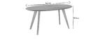 Table à manger design scandinave ovale chêne L160 cm MARIK
