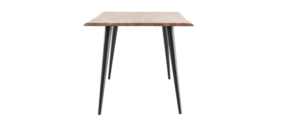 Table à manger en acacia et métal L175 cm EDGE