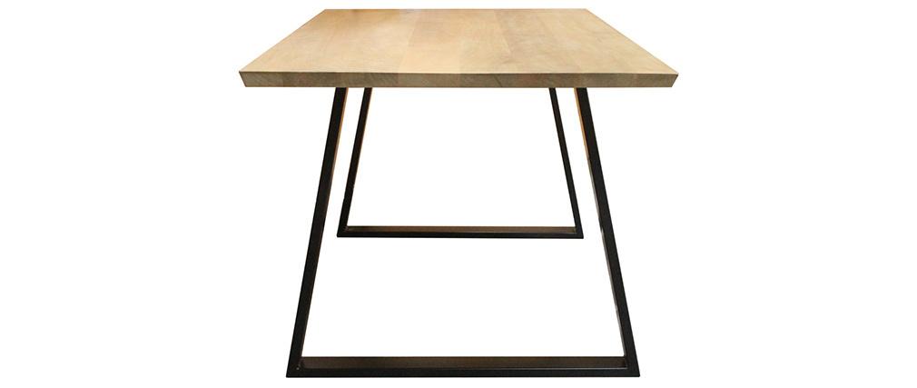 Table à manger en manguier et métal noir L160 cm VIJAY