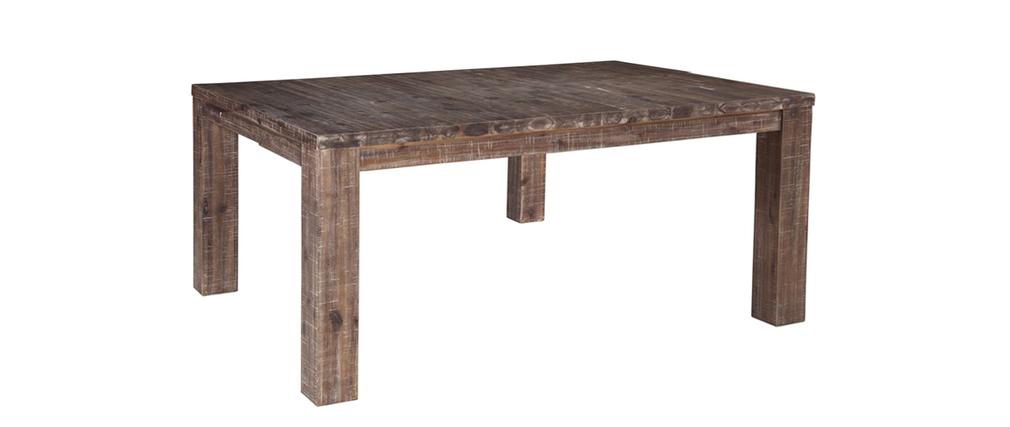 table manger extensible design acacia teint gris sauvage miliboo. Black Bedroom Furniture Sets. Home Design Ideas
