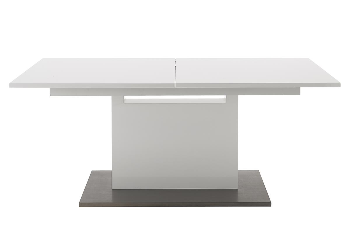 Table manger extensible design blanc aristo miliboo - Table a manger extensible design ...