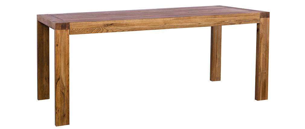 Table à manger extensible en chêne massif L180-230 cm RAW