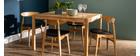 Table à manger extensible finition chêne L125-238 cm AGALI