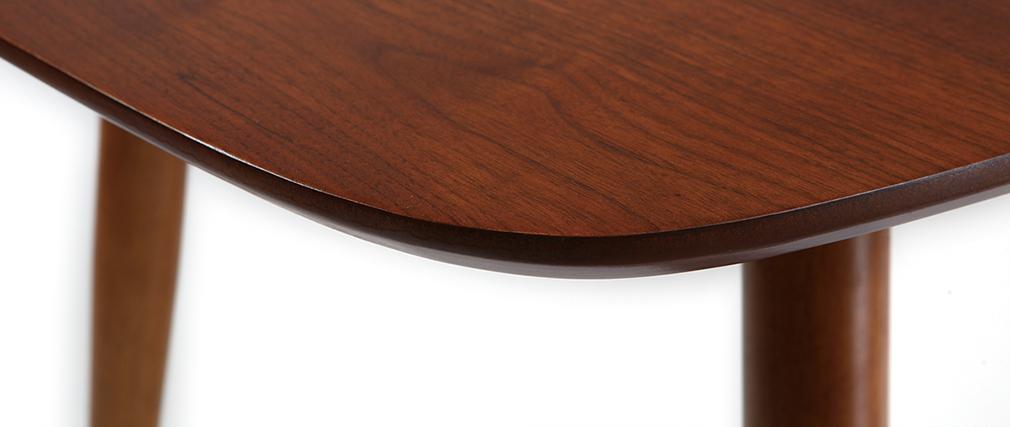 Table à manger extensible finition noyer L130-160 cm NORDECO