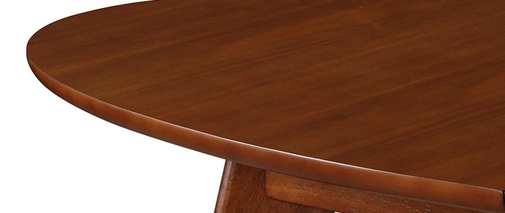 Table à manger extensible finition noyer L150-200 MARIK