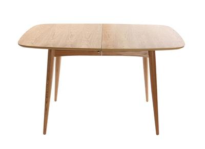 Table à Manger Extensible Frêne Naturel L130 160 Nordeco