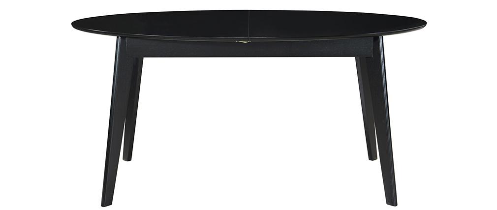 Table à manger extensible noire L160-200 cm MARIK