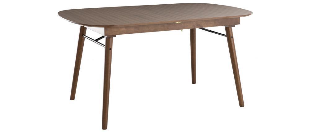 Table à manger extensible noyer L150-180 cm SHELDON