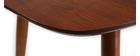 Table à manger extensible noyer naturel L130-160 NORDECO