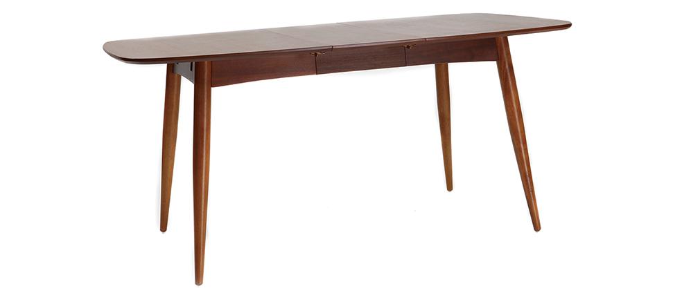 table manger extensible noyer naturel nordeco miliboo. Black Bedroom Furniture Sets. Home Design Ideas