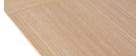 Table à manger extensible placage chêne L160-240 cm LAHO