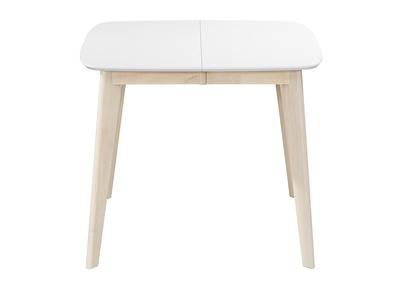 Table A Manger Extensible Scandinave Carree Blanche Et Bois L90 130 Leena