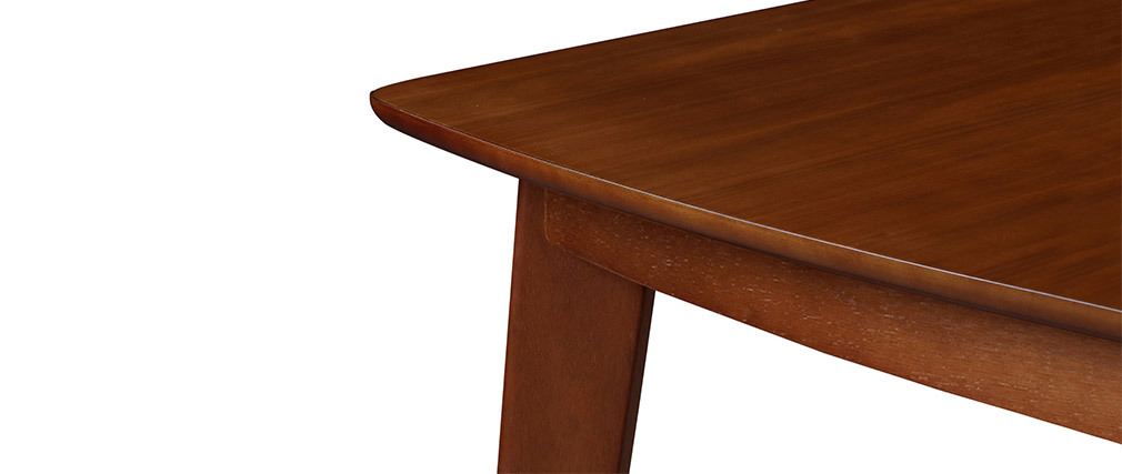Table à manger extensible scandinave noyer L150-200 cm LEENA