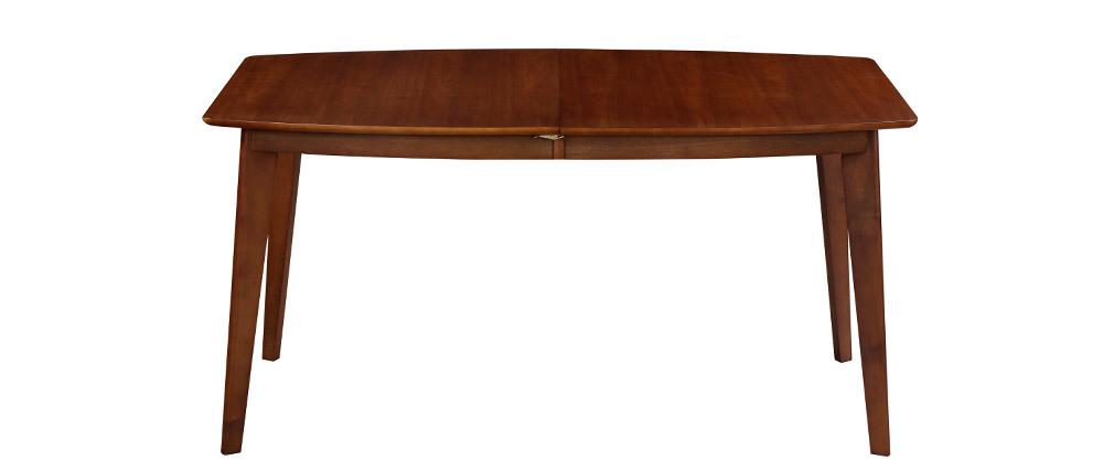 Table à manger extensible scandinave noyer L150-200 LEENA