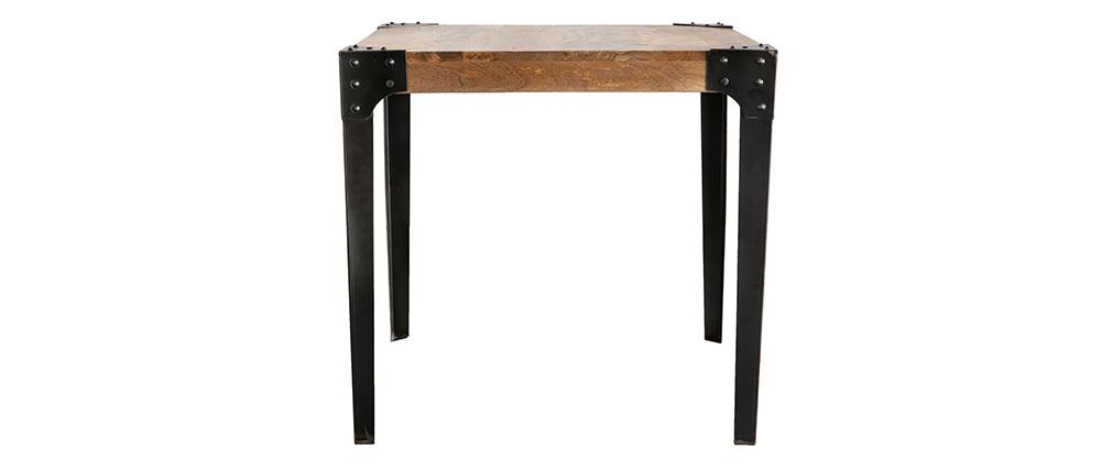 Table à manger industrielle acier et bois L80 cm MADISON