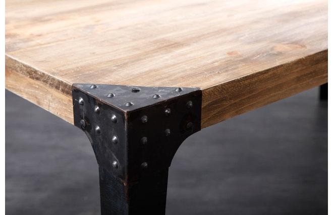 table a manger industrielle acier et bois madison