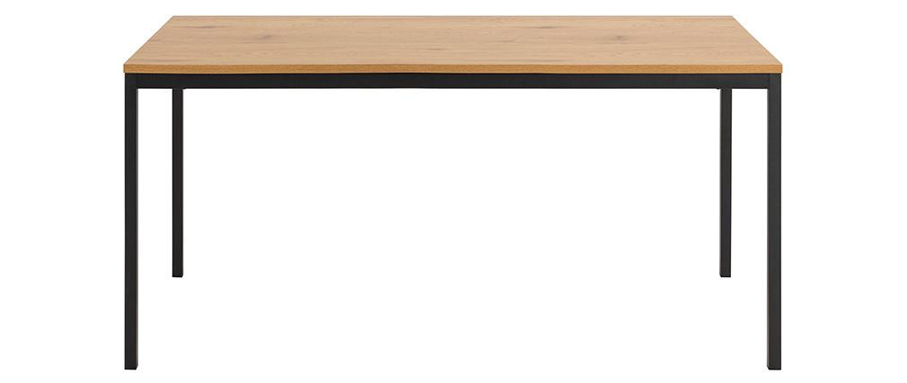 Table à manger industrielle métal et bois L160 cm TRESCA