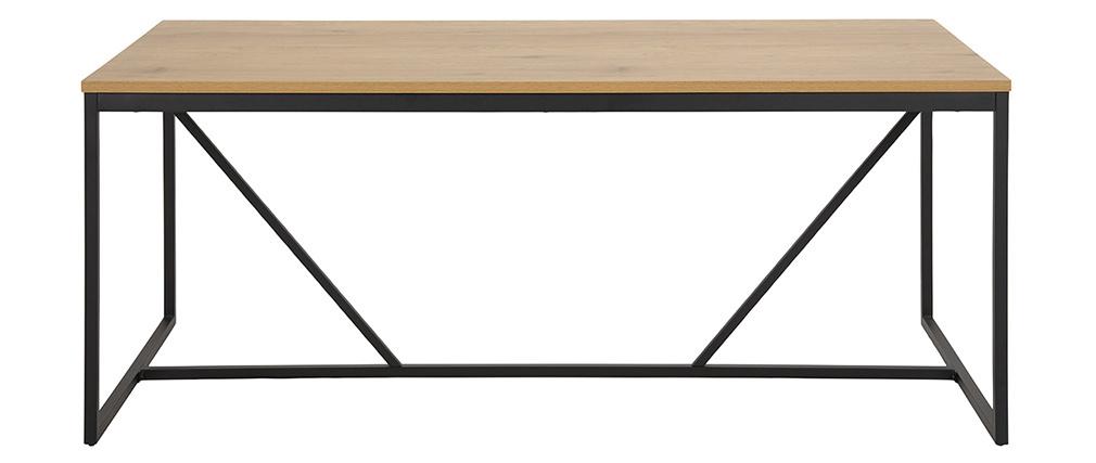Table à manger industrielle métal et bois L180 cm TRESCA