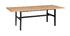 Table à manger industrielle placage chêne et métal noir L230 cm HILBA