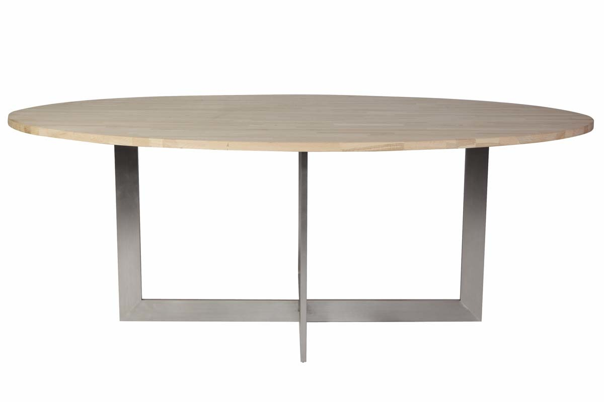 Table a manger ovale table de salle manger calypso ovale for Table salle a manger ovale blanc