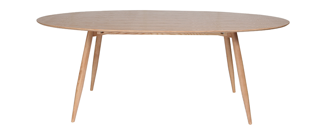 Table à manger ovale frêne naturel 200 cm BALTIK