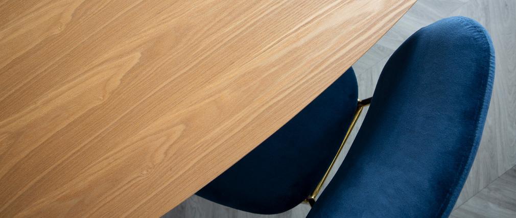 Table à manger ovale frêne naturel L200 BALTIK