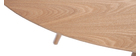 Table à manger ovale frêne naturel L200 cm BALTIK