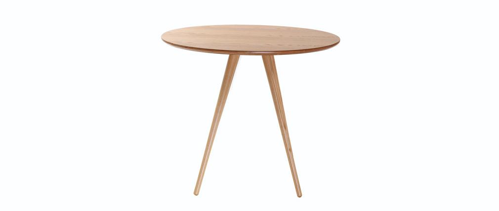 Table à manger ronde bois clair ARTIK
