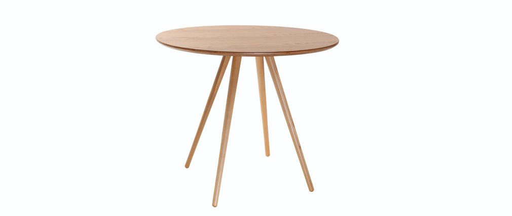 Table à manger ronde bois clair D90 cm ARTIK