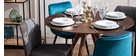 Table à manger ronde design noyer D106 cm WALFORD