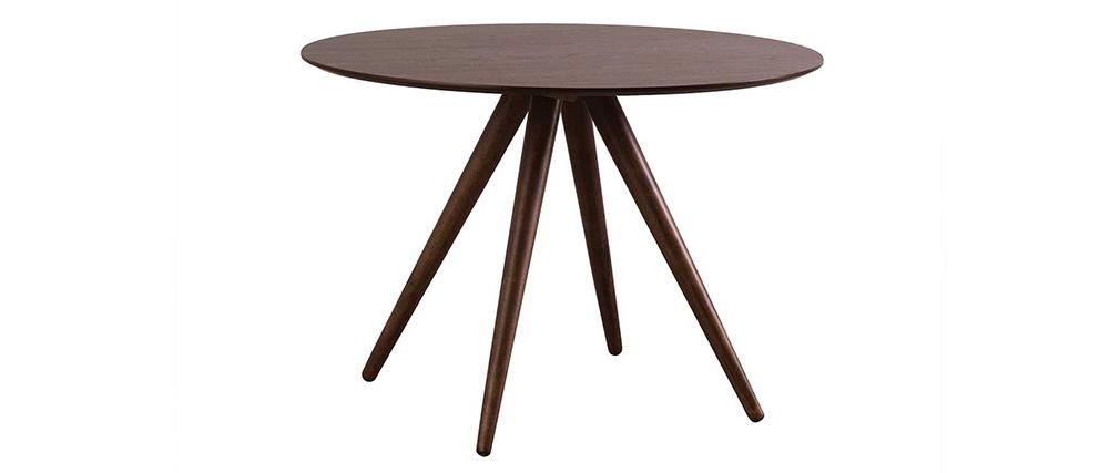 Table à manger ronde design noyer D106 WALFORD