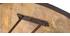 Table à manger ronde industrielle bois métal D125 cm ATELIER
