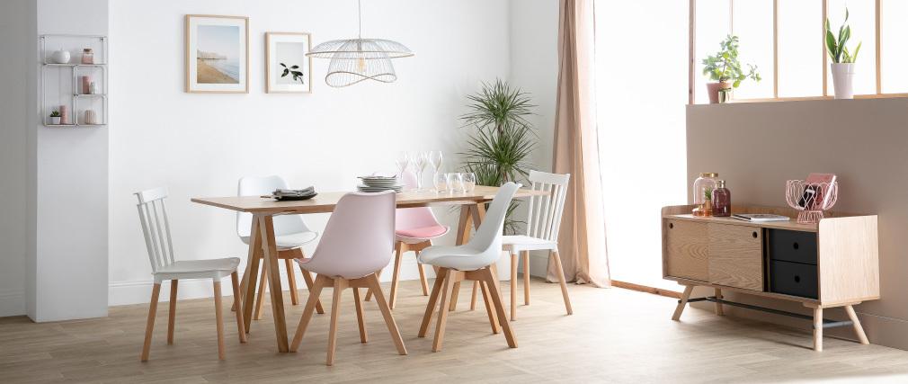 Table à manger scandinave chêne L180 cm DANA