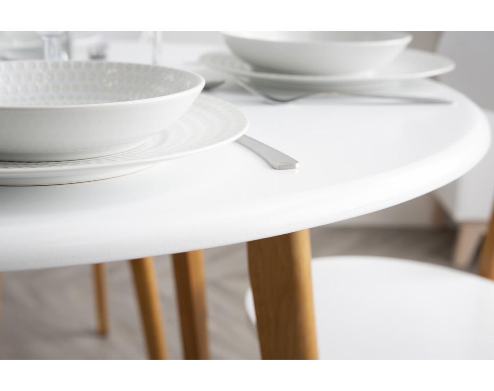 Table À Manger Nordique table à manger scandinave et 4 chaises blanc et bois leena