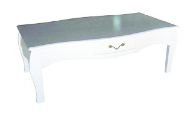 Table basse baroque blanche 1 tiroir louisa miliboo for Table basse baroque blanche