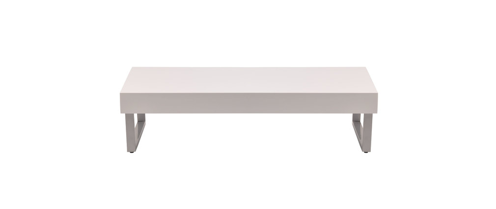 Table basse blanche laquée Morgan