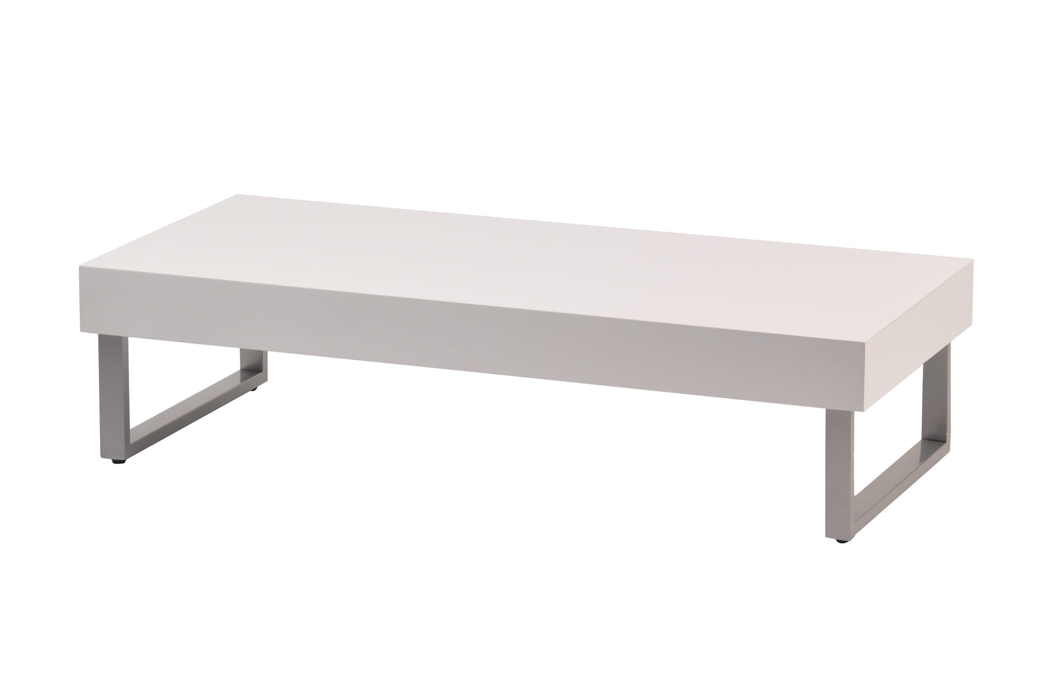 Table basse blanche laqu e morgan miliboo - Table basse gigogne blanche ...
