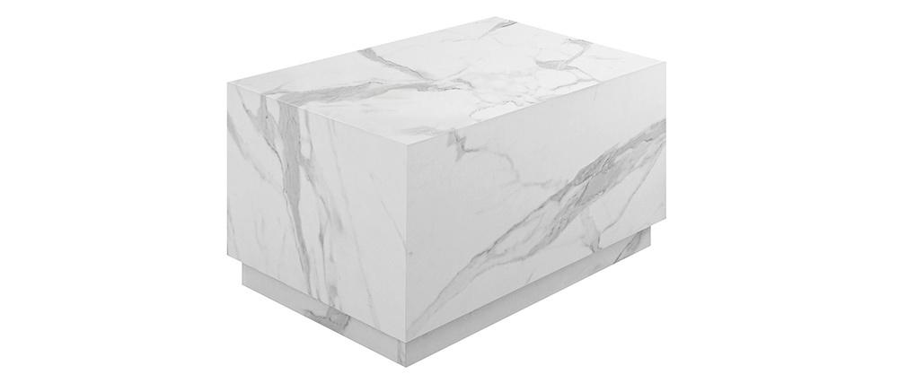 Table basse bloc design effet marbre L79 cm SCENA