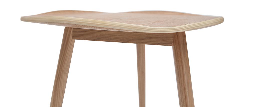 Table basse bois en forme de feuille L60 cm PHYLL