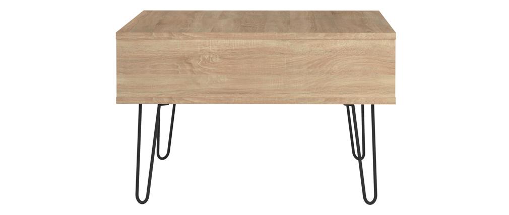 Table basse bois et métal LUMY