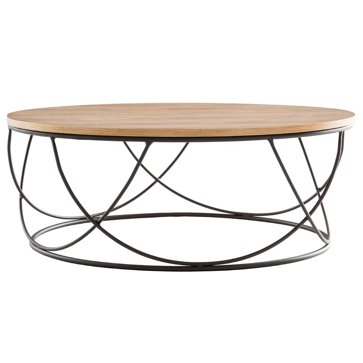def5812656ed37 Table basse bois et métal