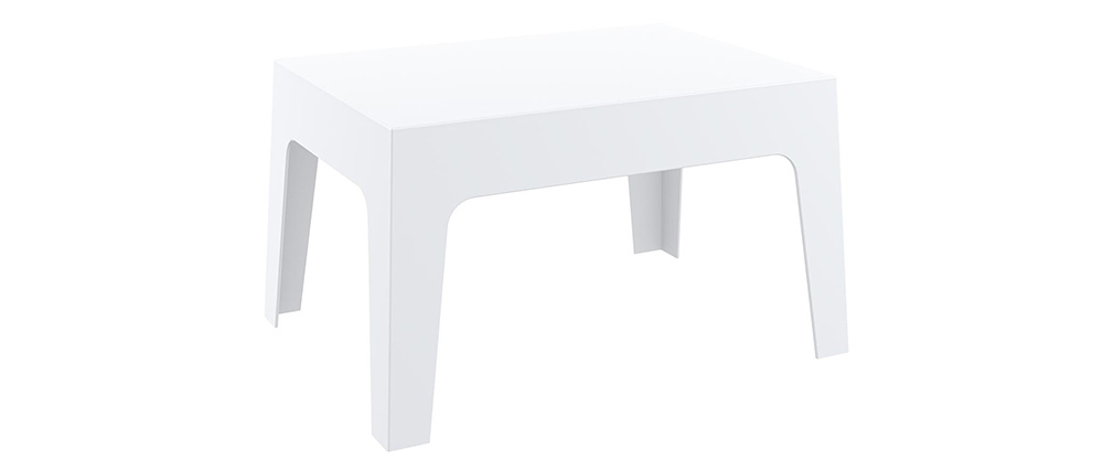 Table basse de jardin design blanc LALI