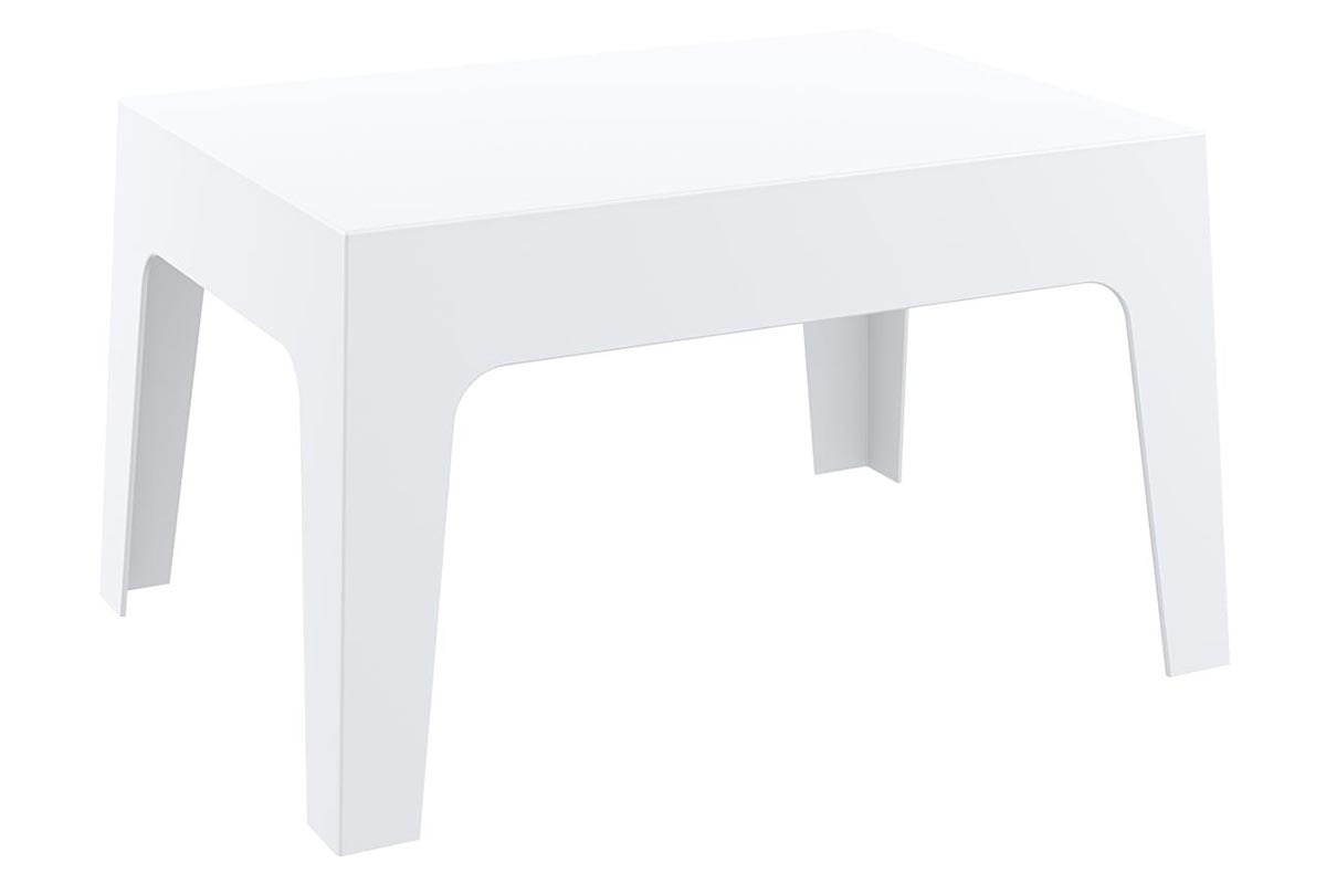Table basse de jardin design blanc LALI - Miliboo