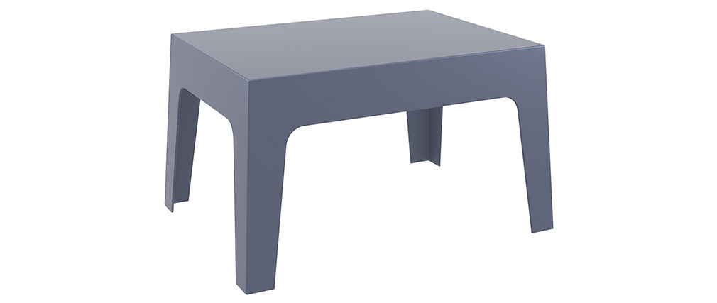 Table basse de jardin design gris fumé LALI