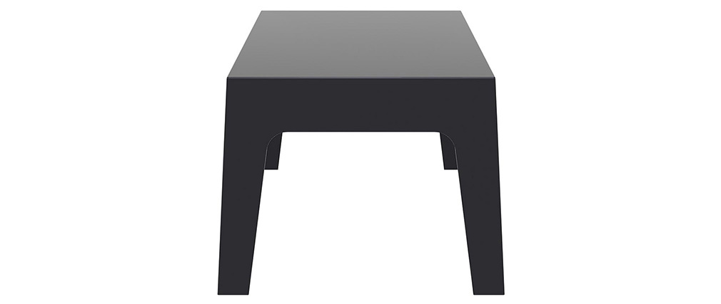 Table basse de jardin design noire LALI
